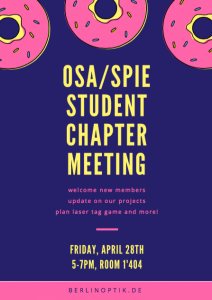 Student Chapter Meeting